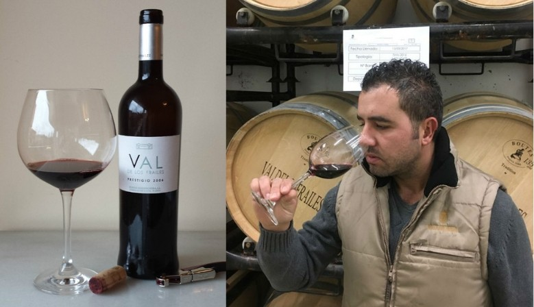 Winemaker Cuco and Valdelosfrailes Prestigio 2009